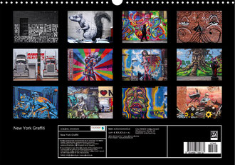 New York Graffiti - Posterbuch in A4/A3/A2 - Deckblatt