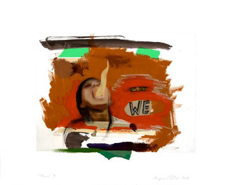 "Nous/ We # 3, 2013, Impression numérique, collage, acrylique et fusain sur papier / Print, collage, acrylic and charcoal on paper. 22"" x 28"" / 56 x 71 cm. Photo: Réal Capuano."