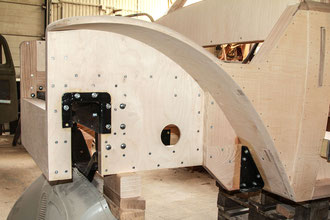 DKW Stellmacher Piela Oldtimer Holz Karosserie