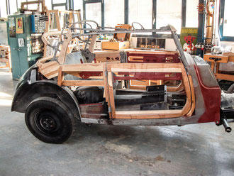 Mercedes Oldtimer Stellmacher Holz Karosserie Piela