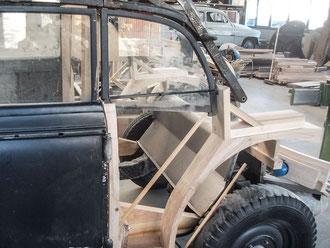 Audi Oldtimer Stellmacher Holz Karosserie Piela