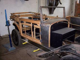 Skoda Oldtimer Stellmacher Holz Karosserie Piela