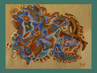 Tango. A3 Papier Acryl.