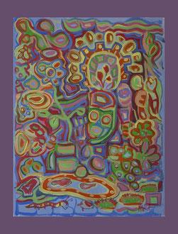 Mexico. A3 Papier Acryl