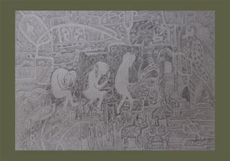 Anfang und Ende, A3 Stift Papier