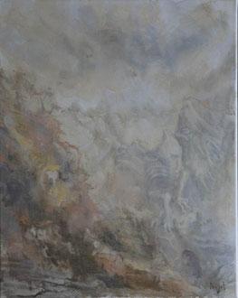 40x50 Acryl auf Leinwand. Kutsche des Todes