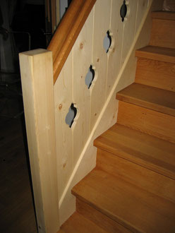 Eingestemmte Treppe mit Scheien