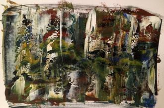 Zauberwald I, 2015 - acrylic painting on paper 48x33cm