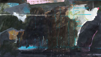 O. T. , 2012, Malerei auf Papier, 70 x 40 cm