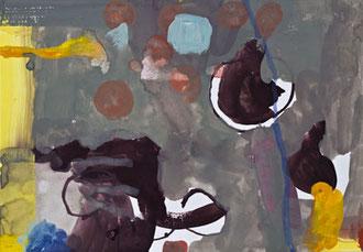 Bretonische Himmel II, 2013, Malerei auf Papier, 30 x 21 cm