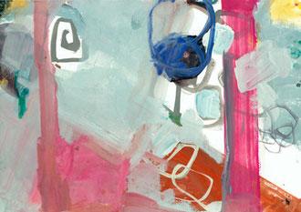 Bretonische Himmel I, 2013, Malerei auf Papier, 30 x 21 cm