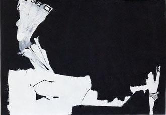 O. T. , 2012, Malerei auf Papier, 100 x 70 cm