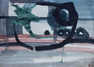 O. T. , 2012, Malerei auf Papier, 86 x 62 cm