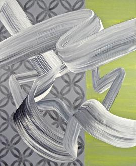 "'Mon Coeur Est Un Violon', (2016) acrylic and graphite on panel. 17"" x 14"""