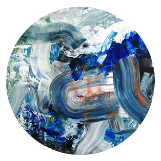"'Sound of the Seafloor', (2019) acrylic on panel. 48"" x 48"""