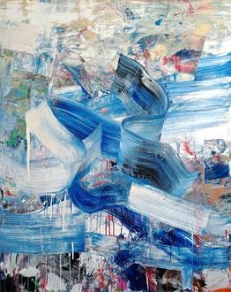 """'The Swash and Backwash', (2019) acrylic on panel. 60"""" x 48"""""""