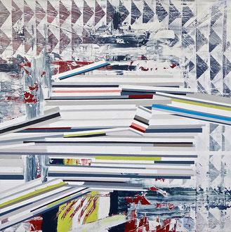 "'Observatory Hill', (2016) acrylic on canvas. 39"" x 39"""