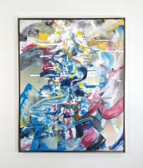 "'Shimmer', (2020) acrylic on canvas. 38"" x 30"""