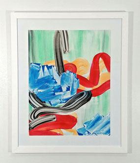 """'Untitled IV', (2016) acrylic on bristol board. 36"""" x 30"""" (framed)"""
