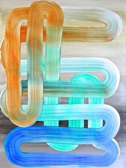"'Padam, Padam', (2017) acrylic on panel. 24"" x 18"""