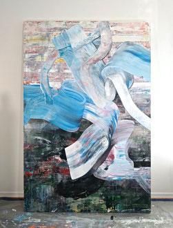 "'Kelp Forest', (2019) acrylic on panel. 72"" x 48"""