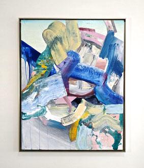 """'Shifting Shingle', (2020) acrylic on panel. 38"""" x 30"""""""