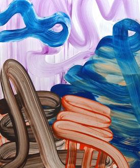 "'Untitled XIV', (2016) acrylic on mylar. 22"" x 17"""