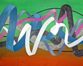 "'Jungle Brava', (2016) acrylic on panel. 48"" x 60"""