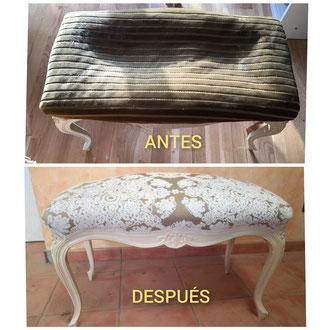 Restauración de descalzadora estilo Luis XV de principios del siglo XX.