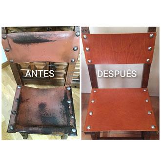 Restauración de sillas castellanas.
