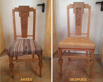 Restauración de sillas Art-decó.