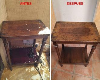 Restauración de mesita auxiliar.