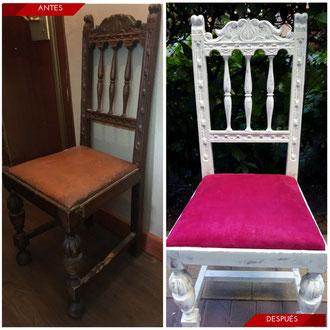 Tapizar silla castellana