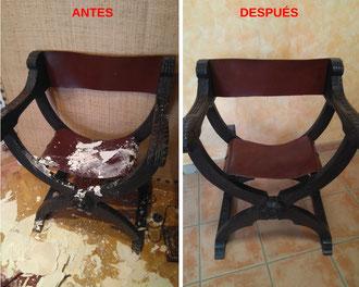 Restauración de jamuga castellana.
