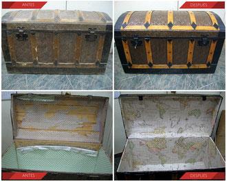 Restauración baúl de viaje. Mediados del Siglo XIX.