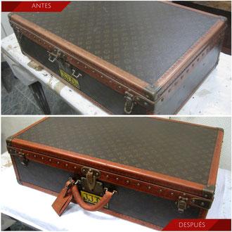 Restauración maleta Louis Vuitton. Años 50,