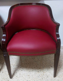Restauración sillas mesa de juntas