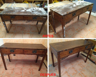 Restauración de mesa oriental.
