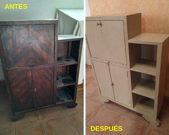 Restauración de escritorio Art-Decó. Año 1950.