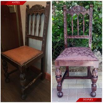 Tapizar sillas castellanas