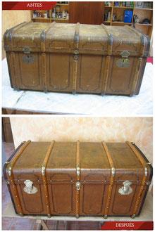 Restauración baúl alemán. Finales del siglo XIX