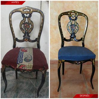 Restauración Silla Isabelina