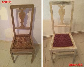 Restauración de sillas de los años 40.