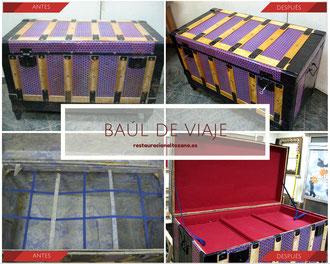Restauración baúl de viaje.