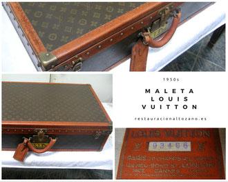 Restauración maleta Louis Vuitton. Años 50.