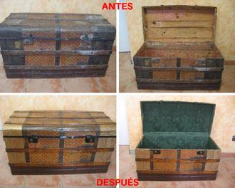 Restauración de baúl argentino. Siglo XIX.