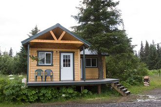 Unsere Unterkunft im Lake Clark NP.