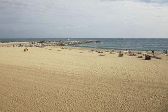 Strand von Barcelona.