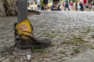 am Albertplatz in Dresden gesehen