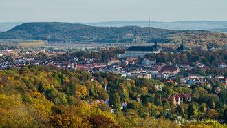 Blick vom Bürgerturm in Richtung Gotha